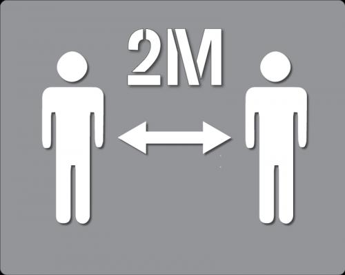 2M - Social Distancing Stencil