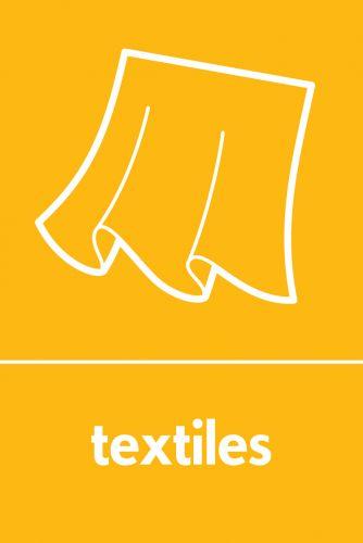 Recycling Sticker - Textiles (WRAP Compliant)