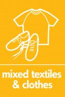 Recycling Sticker - Mixed Textiles and Clothes (WRAP Compliant)