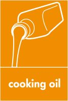 Recycling Sticker - Cooking Oil (WRAP Compliant)