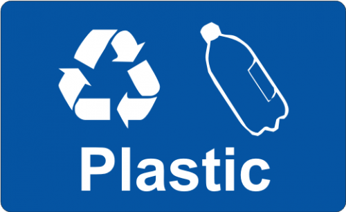 Recycling Sticker - Plastic