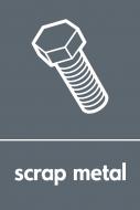 Recycling Sticker - Scrap Metal (WRAP Compliant)