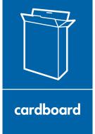 Recycling Sticker - Cardboard (WRAP Compliant)