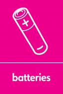 Recycling Sticker - Batteries (WRAP Compliant)