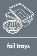 Recycling Sticker - Foil Trays (WRAP Compliant)