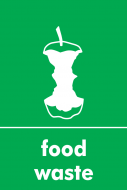 Recycling Sticker - Food Waste (WRAP Compliant)