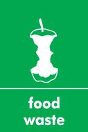 Recycling Sticker - Food Waste (WRAP Compliant)
