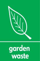 Recycling Sticker - Garden Waste (WRAP Compliant)