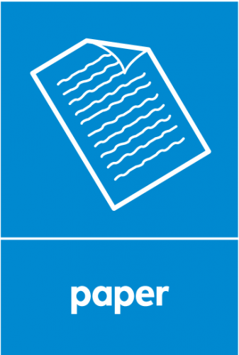 Recycling Sticker - Paper (WRAP Compliant)