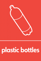 Recycling Sticker - Plastic Bottles (WRAP Compliant)