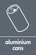 Recycling Sticker - Aluminium Cans (WRAP Compliant)