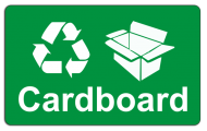 Recycling Sticker - Cardboard
