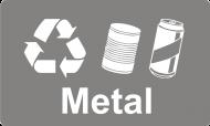 Recycling Sticker - Metal