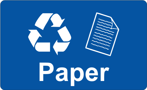 Recycling Sticker - Paper